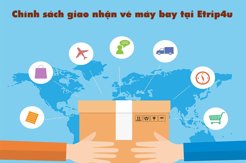 Chính sách giao nhận vé máy bay tại Etrip4u