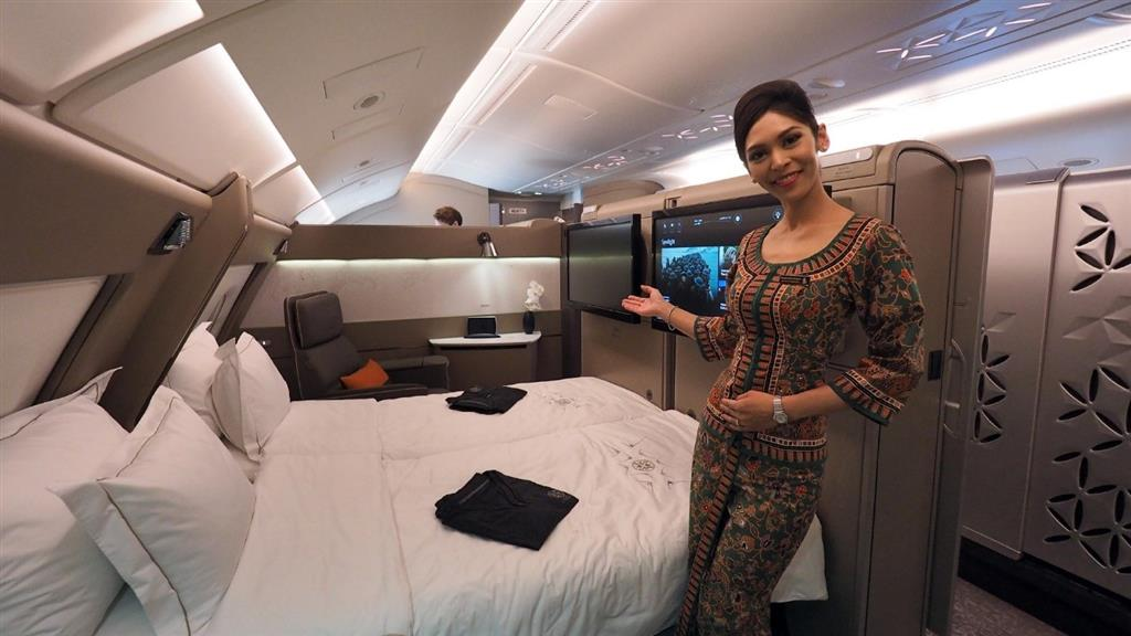 Khoang hạng Suites trên máy bay Singapore Airlines